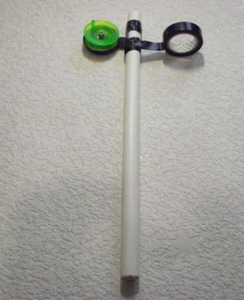 Сигнализатор и катушку к стойке лучше всего прикреплять с помощью изоленты