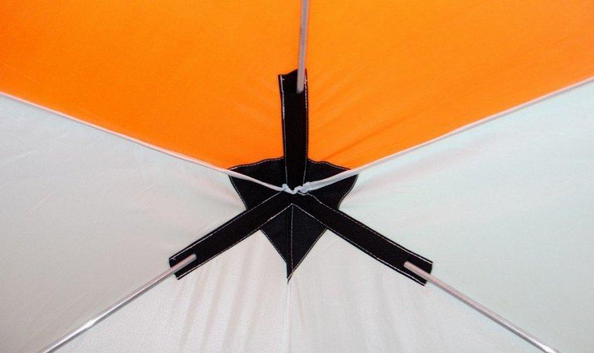 Зимняя палатка с алюминиевыми мачтами