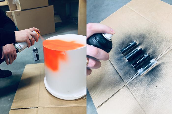 painting the ice bucket