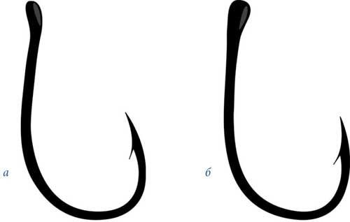 Крючок с загнутым ушком и прямым